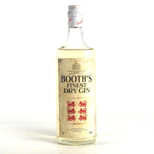 Booth's Finest Dry Gin circa 1980s