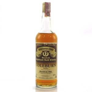Coleburn 1965 Gordon and MacPhail 17 Year Old / Pinerolo Import