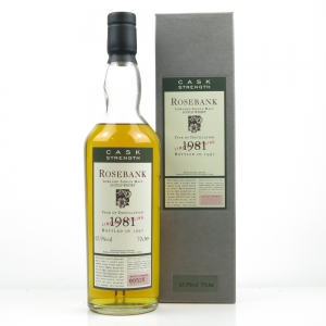 Rosebank 1981 Flora and Fauna Cask Strength