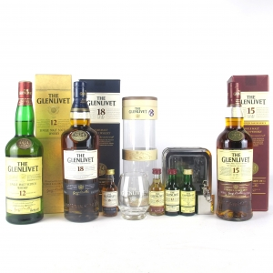 Glenlivet Selection 3 x 70cl / 4 x 5cl