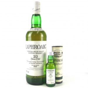 Laphroaig 10 Year Old 1980s / Including Miniature 5cl