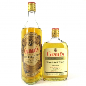 Grant's Stand Fast 1970s / Includes Half Bottle 13 1/3 Fl. Ozs.