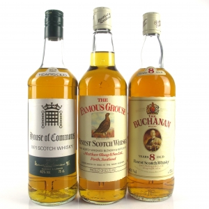 Miscellaneous Blended Whisky Selection 3 x 75cl 1980s