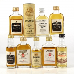 Miscellaneous Linkwood and Longmorn Single Malts 8 x 5cl