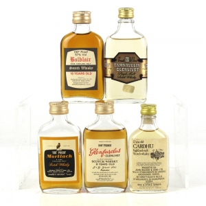 Miscellaneous Speyside and Highland Miniatures 1970s 5 x 5cl