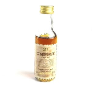 Springbank 21 Year Old 1990s 5cl Miniature