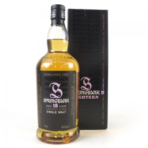 Springbank 18 Year Old / Signed