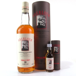 Aberlour 10 Year Old 1980s / Including Miniature