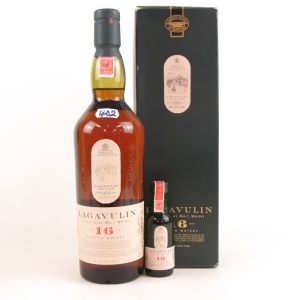 Lagavulin 16 Year Old White Horse / Including Miniature