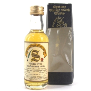 Dumbarton 1963 Signatory Vintage 26 Year Old Miniature 5cl