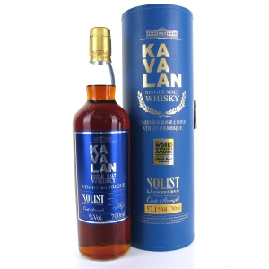 Kavalan Solist Cask Strength Vinho Barrique / 57.1%