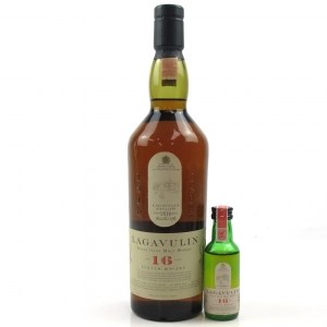 Lagavulin 16 Year Old White Horse and Miniature