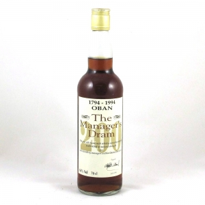 Oban 16 Year Old Manager's Dram Bi-Centenary 1994 - Front