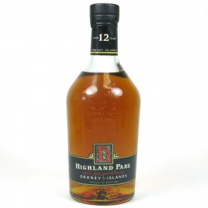 Highland Park 12 Year Old Red 'H' Over Black 1990s 1 Litre