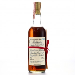Macallan 1940 Handwritten Label / Rinaldi Import