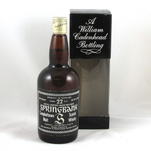 Springbank 22 Year Old Cadenhead's (26 2/3rd fl oz and 80 Proof) Front