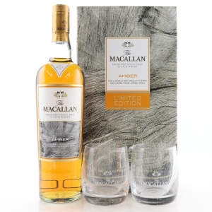 Macallan Amber Limited Edition Gift Pack / including 2 x Glasses