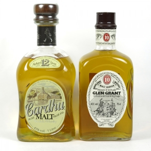 Chardhu 12 Year Old 1 Litre & Glen Grant 10 Year Old 75cl front