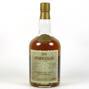 Springbank 25 Year Old front