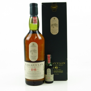 Lagavulin 16 Year Old White Horse Including Miniature