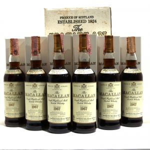 Macallan 1967 18 Year Old 6 x 75cl / Giovinetti Import - Case