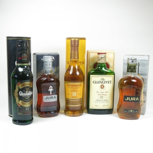 Miscellaneous 35cl Single Malts x 5
