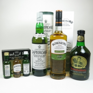Miscellaneous Islay Single malt 3x 70cl and 3x 5cl