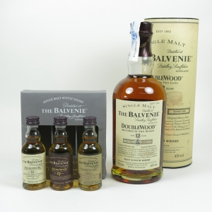 Balvenie DoubleWood 12 Year Old and 3x 5cl