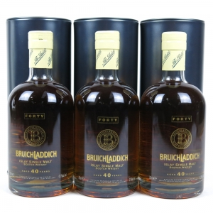 Bruichladdich 40 Year Old 3 x 70cl / Full Case