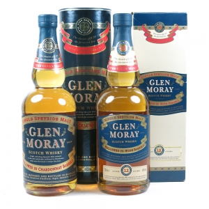 Glen Moray Chardonnay and 12 Year Old 2 x 70cl Front