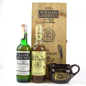 William Lawson's and Glen Deveron 1980s / Including Wooden Case and Jug / 2 x 75cl