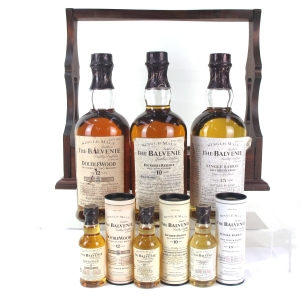Balvenie Single Malt Collection 3 x 70cl / Including Plinth & Matching Miniatures 3 x 5cl