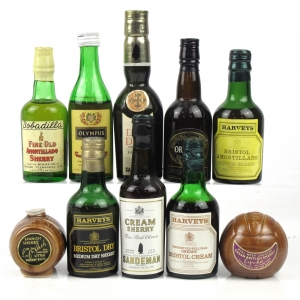 Miscellaneous Sherry Miniature Selection 10 x 5cl