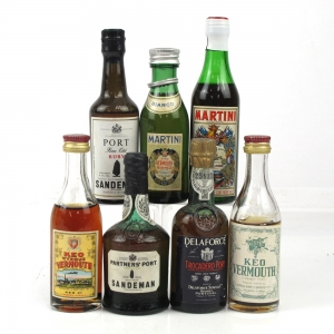 Miscellaneous Vermouth and Port Miniature Selection 7 x 5cl