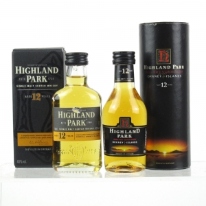 Highland Park 12 Year Old 2 x 5cl Miniatures