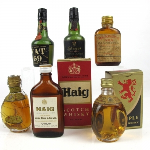 1960/70s Blended Whisky and Liqueur Miniature Selection 6 x 5cl