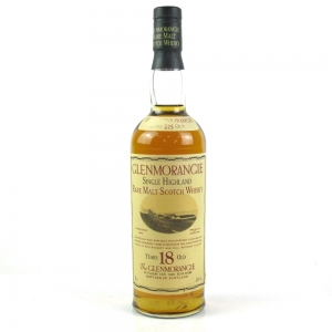 *PIC OF DAMAGE LABEL Glenmorangie 18 Year Old