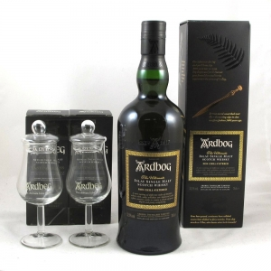 Ardbeg Ardbog including 2 x Glasses and T-Shirt Pack