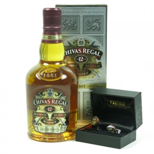 Chivas 12 Year Old 35cl Gift Pack (Including Cuff Links) front