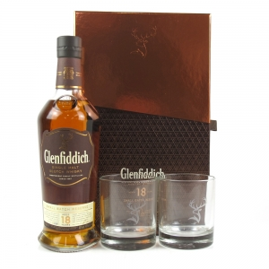 Glenfiddich 18 Year Old Small Batch Reserve Gift Pack / Includes Two Glasses