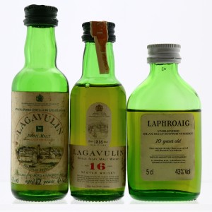 Lagavulin & Laphroaig 1990s/80s Miniature Collection 3 x 5cl
