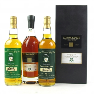 Glenmorangie Single Cask 16 Year Old / 400 Years of Golf in Dornoch Including 2 Club Bottles 3 x 70cl