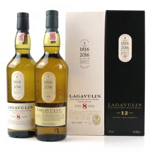Lagavulin 8 and 12 Year Old 200th Anniversary Edition