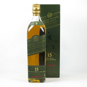 Johnnie Walker Green Label 15 Year Old 1980s front
