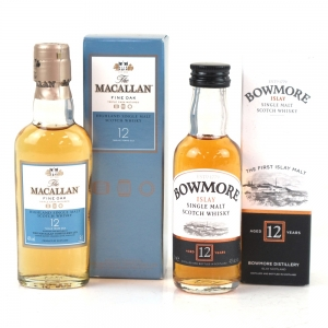 Macallan & Bowmore Miniature 12 Year Olds 2 x 5cl