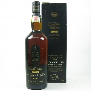 Lagavulin 1986 Distillers Edition 2002 Front