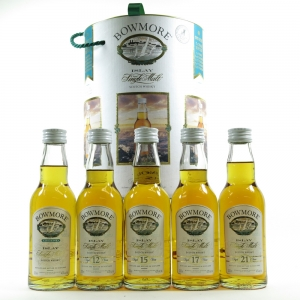 Bowmore Presentation Tin Containging Legend / 12 / 15 / 17 / 21 Year Old 5 x 20cl