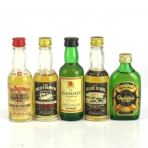 Speyside Miniature Selection x 5 1970s
