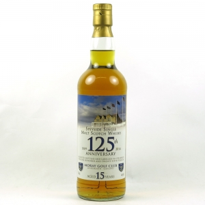 Moray Golf Club 125th Anniversary 15 Year Old Single Malt Front