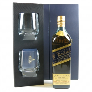 Johnnie Walker Blue Label With Glasses Front